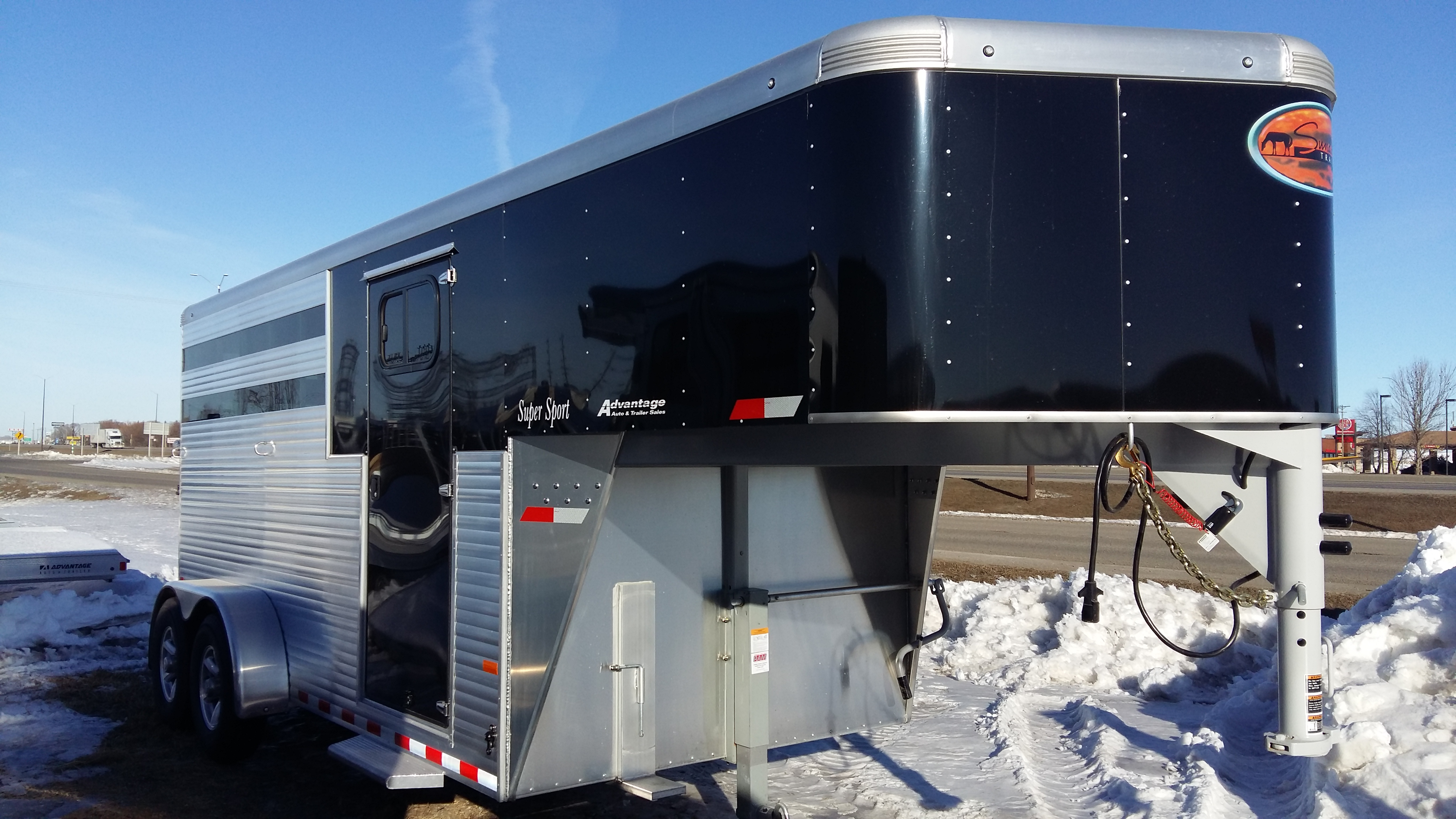 trailer hart outlaw the awnings quarters horse aluminum living listing img awning with all